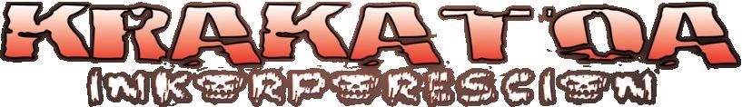 Logo Krakatoa Inkorporescion, solo scritta